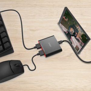 PG-9116 billentyűzet és egér adapter telefonhoz/tablethez