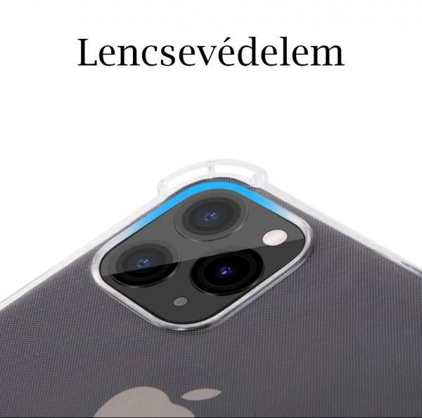 IPhone 11/12 minőségi szilikontok lencsevédelem