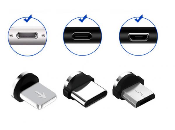 Mágneses LED töltőkábel fejegység